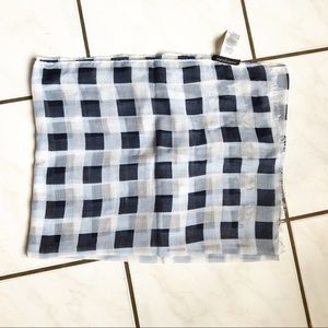 NWOT Banana Republic Blue Checkered Scarf